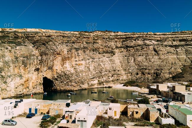 Landscape of Dwejra in Gozo island, Malta,