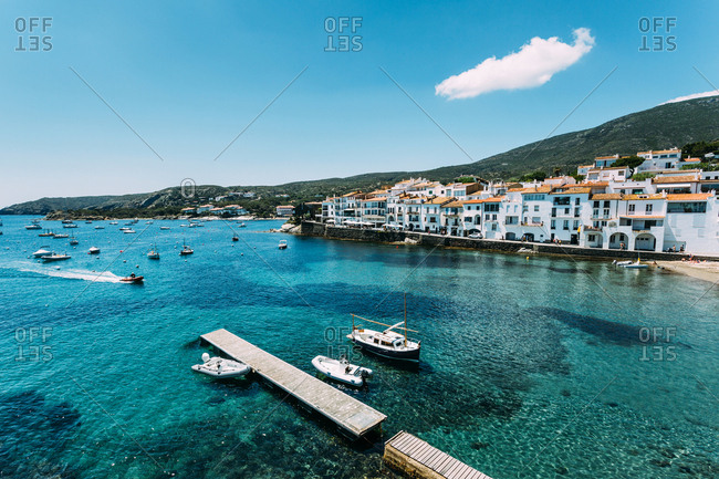 Scenic view of Cadaques village, Spain