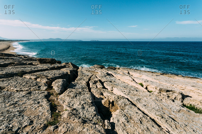 Sea landscape of Pals Beach in Spain,