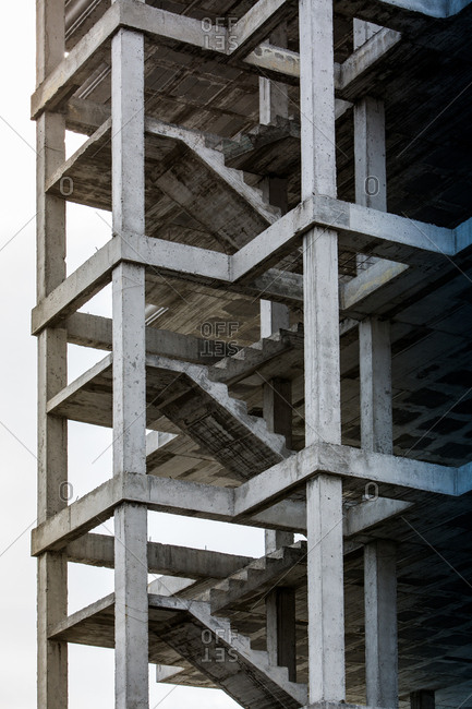 Unfinished building with concrete structure