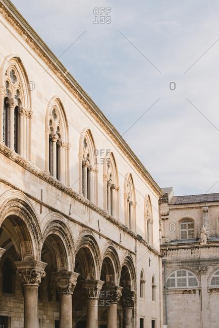 Building in old town Dubrovnik, Croatia