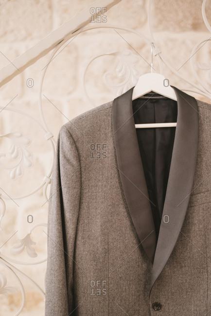 Gray groom's tuxedo