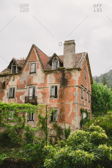 Exterior of old building in Sintra, Portugal
