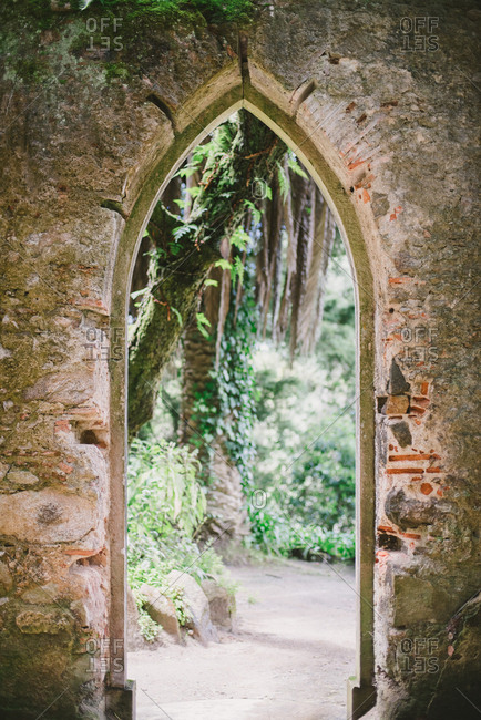 Archway at the Montserrat Palace in Sintra, Portugal