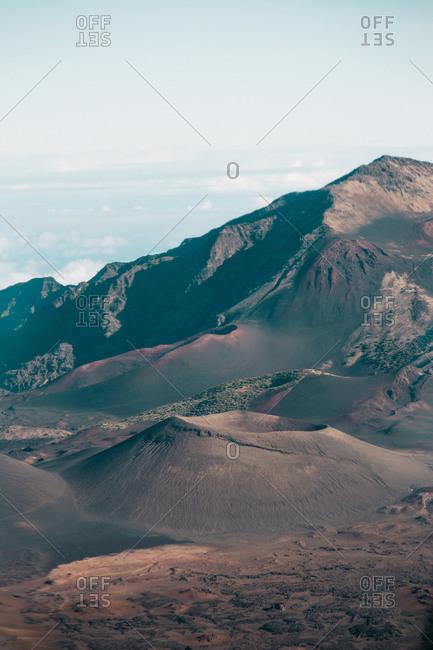Volcanic peaks in Hawaii