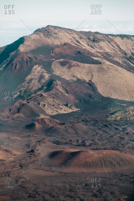 Volcanic mountain peaks in Hawaii