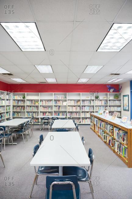Del Obispo Elementary School in Dana Point, CA. - January 10, 2017: Empty library in elementary school.