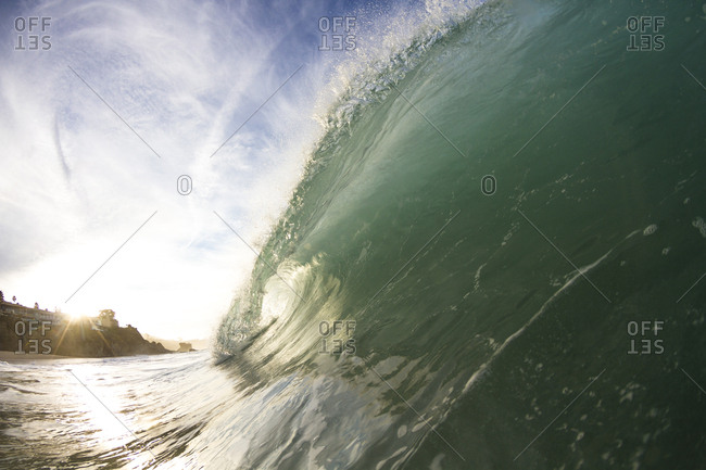 Water shot of a breaking wave.