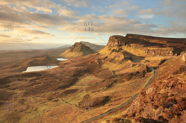 Morning light from the Quiraing on the Isle of Skye, Scotland.