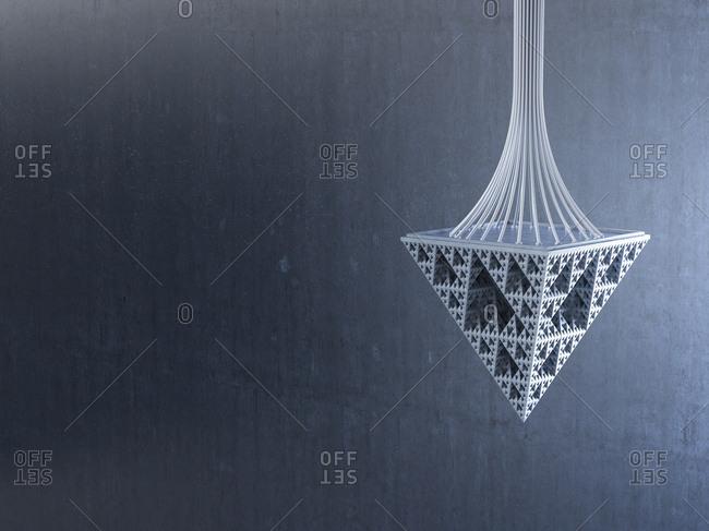 Pendulum made of triangles- 3d rendering