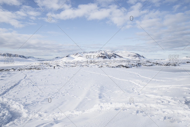 Iceland- snow-covered landscape
