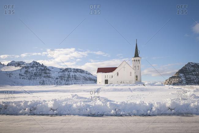 Iceland- Grundafjoerdur- church near Kirkjufell