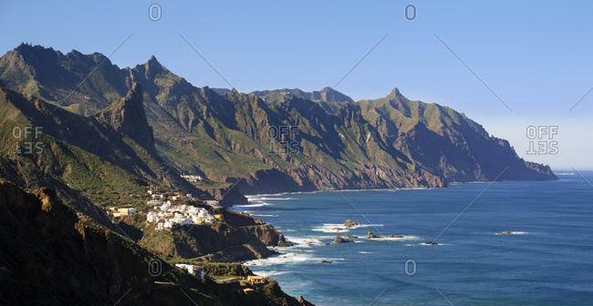 Spain- Canary islands- Tenerife- Anaga mountains- village Almaciga