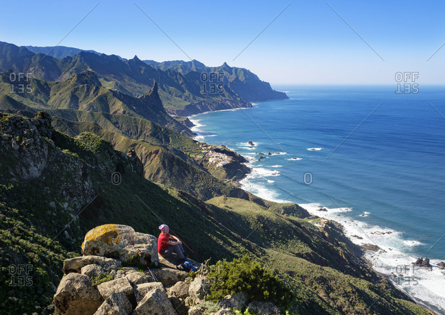 Spain- Canary islands- Tenerife- Anaga mountains- coast and village Almaciga