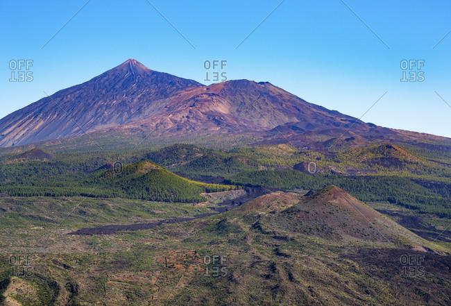 Spain- Canary islands- Tenerife- Pico del Teide und Pico Viejo as seen from Teno mountains