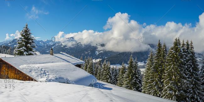 Austria- Kleinwalsertal- high route in winter