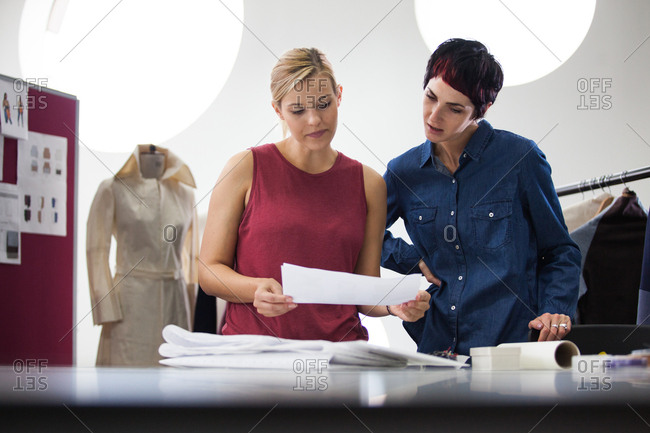 Fashion designers working on collection