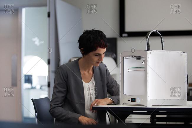 Designer with 3D printer