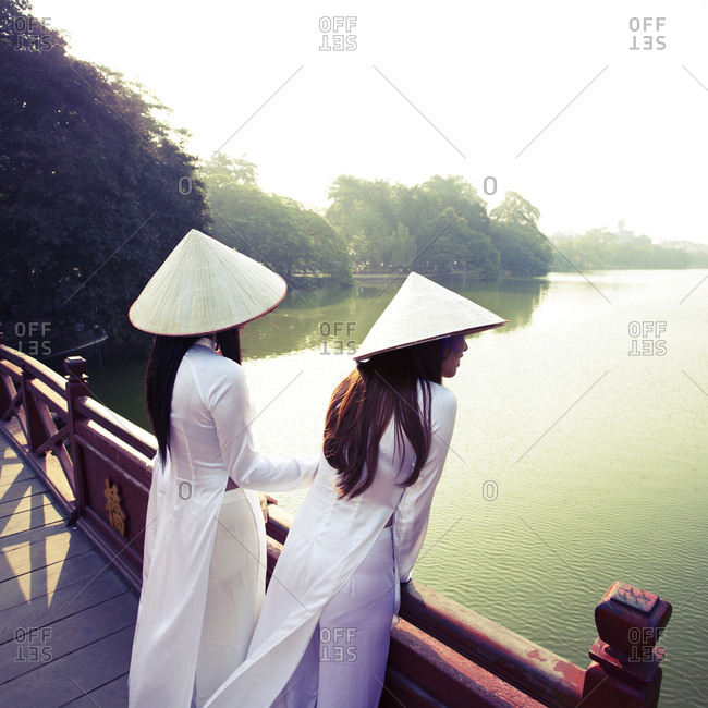 Vietnamese women in traditional costume