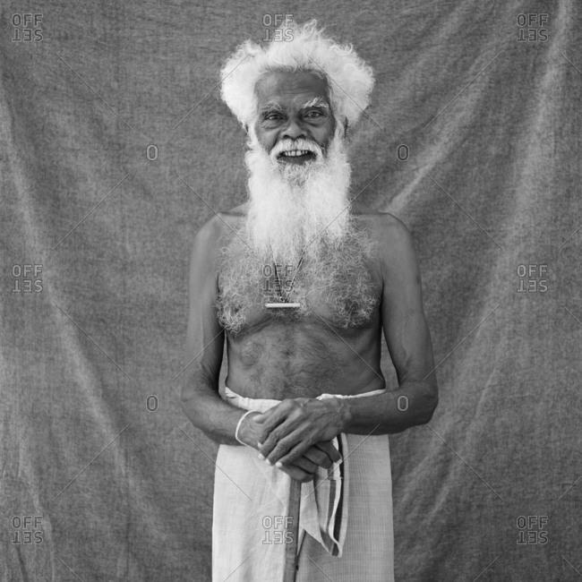 Portrait of an elderly Sri Lankan man