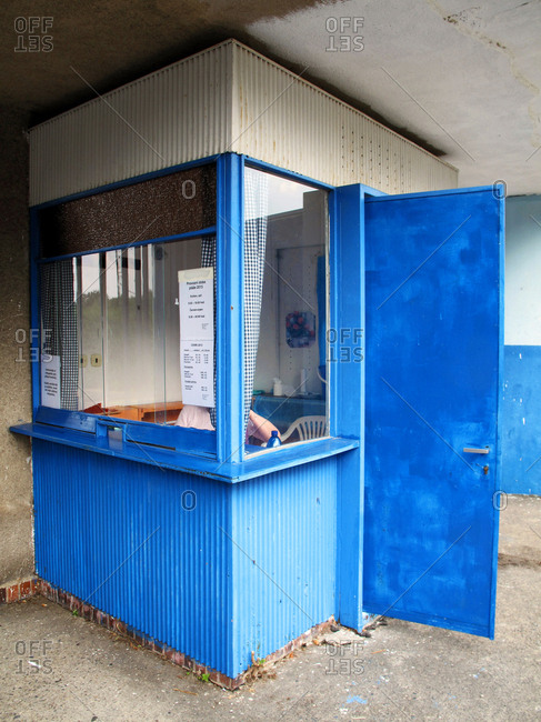 July 24, 2013 - Prague, Czech Republic: Person working in an admission booth