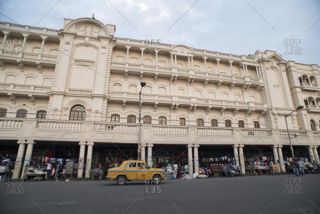 Kolkata, India - March 12, 2017: Ambassador taxi in front of the Oberoi Hotel in Kolkata, India