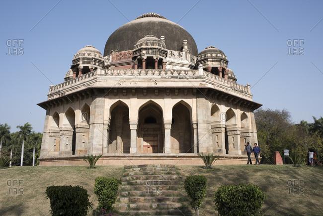 New Delhi, India - March 21, 2017: Tomb of Muhammed Shah, Lodi Gardens, Delhi, India
