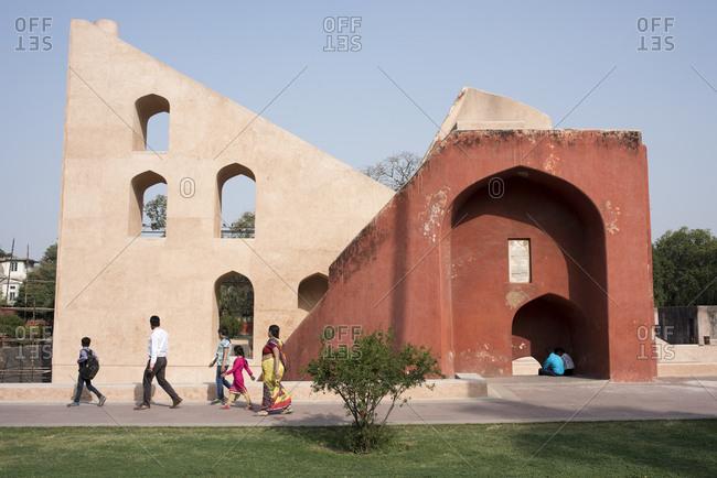 New Delhi, India - March 20, 2017: Jantar Mantar in Delhi, India