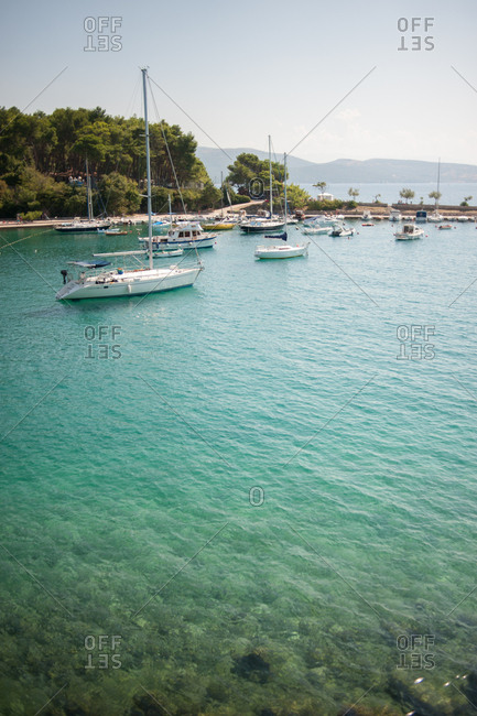 Sailboats in the harbor, Krk Island, Croatia