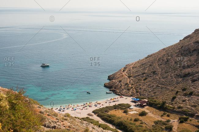 Bird's eye view of Stara Baska, Krk Island, Croatia