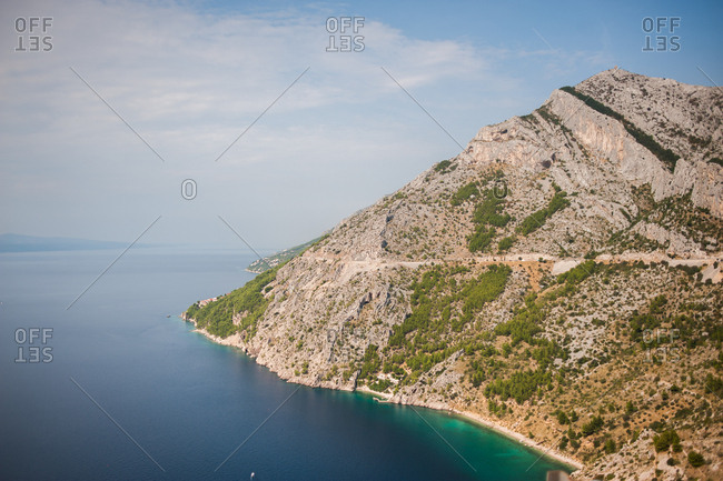 Scenic view of the coast of Makarska, Croatia