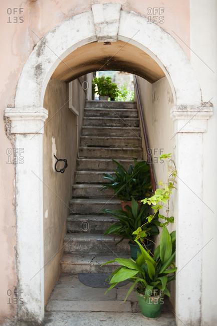 Stairway in Ston, Croatia