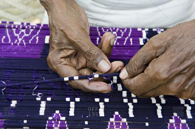 India, Orissa, Baragarh district, Badbadi village, weaver village