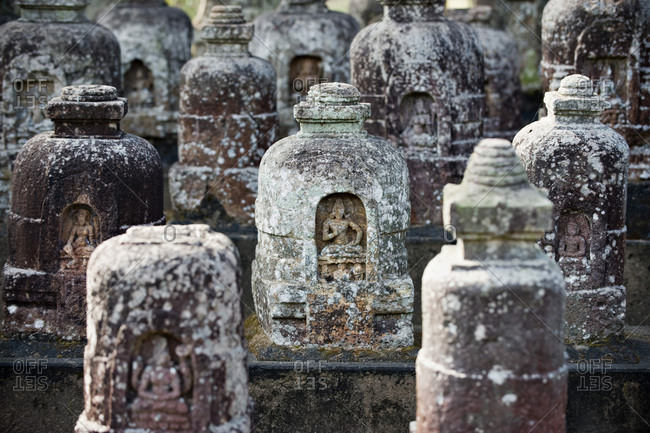 India, Orissa, Jajupur district, Ratnagiri, 1st monastery, votive stupas