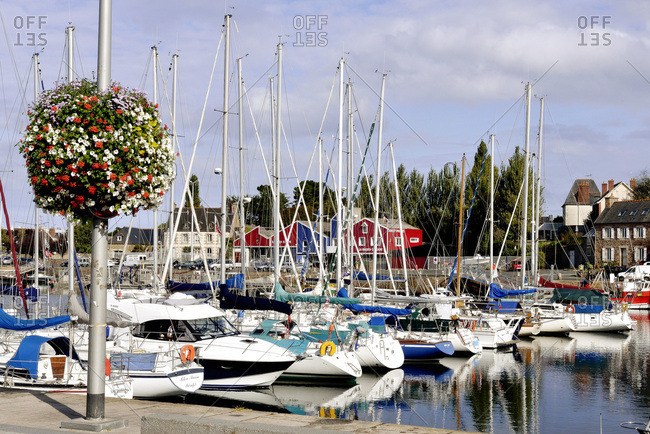 North-Western France - October 1, 2014: Brittany, yachting harbor, pleasure boats