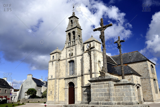 France, North-Western France, Brittany, Church of Plouneour Menez