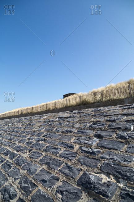Stone wall in a coastal setting