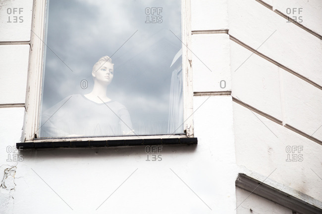 Female mannequin in a window