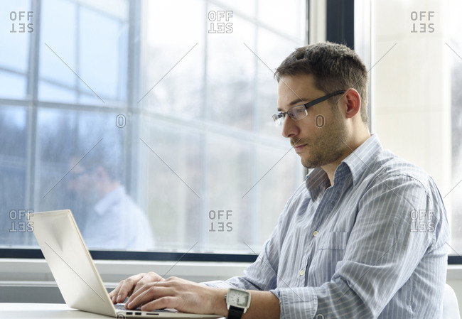 Young man working on a computer