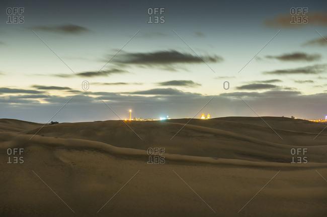 Canary Islands (Spain), Gran Canaria, Maspalomas . the famous sand dunes