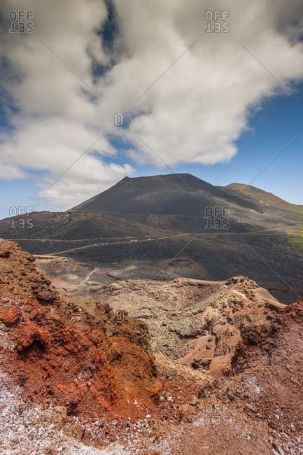 Canary Islands (Spain), La Palma . Volcano Teneguia, near Fuencalientes