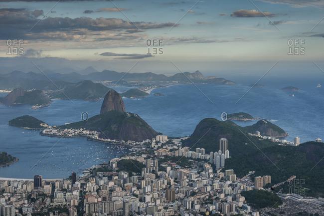 Brazil, Rio de Janeiro, Rio de Janeiro . view of the town from Corcovado lookout
