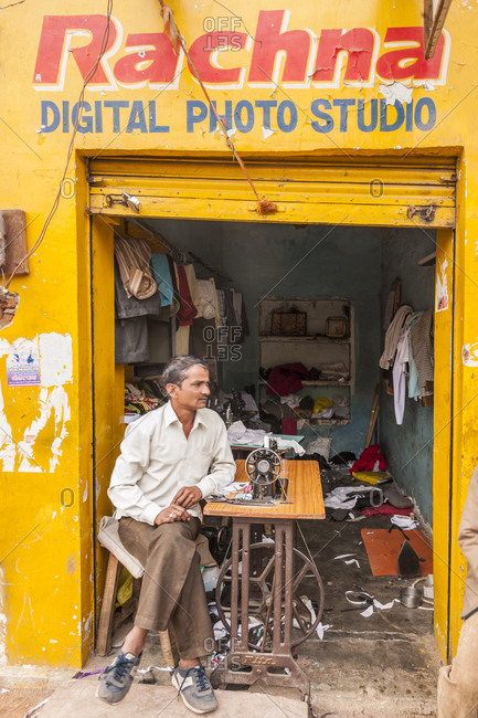 India, Orchha - January 31, 2013: Daily life in the old city