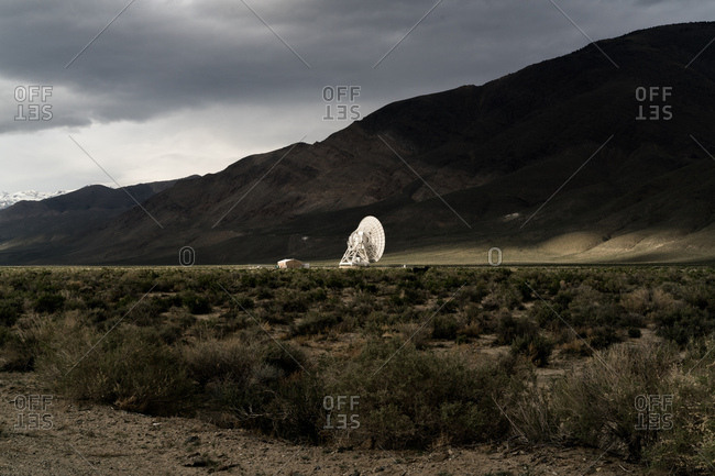 A telescope at Owen Valley Radio Observatory