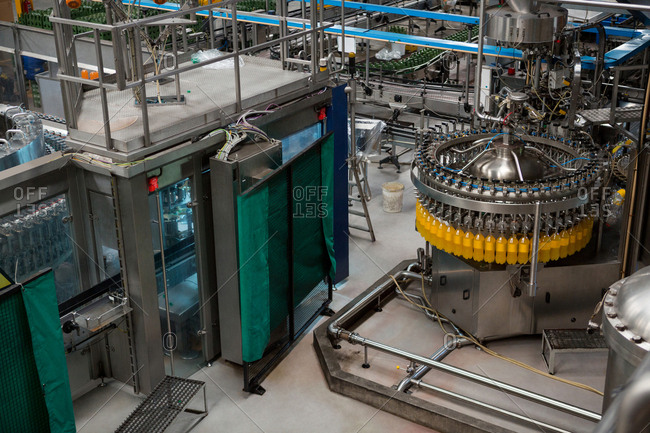 Bottling plant in manufacturing industry