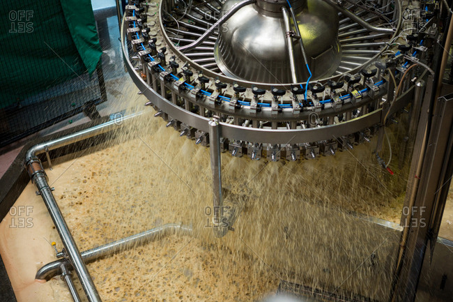 Processing machine in juice factory