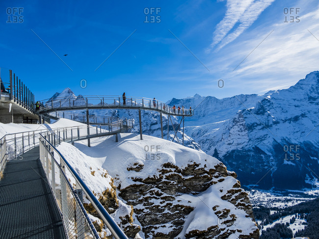 Switzerland- Canton of Bern- Grindelwald- view from First Cliff Walk on Eiger