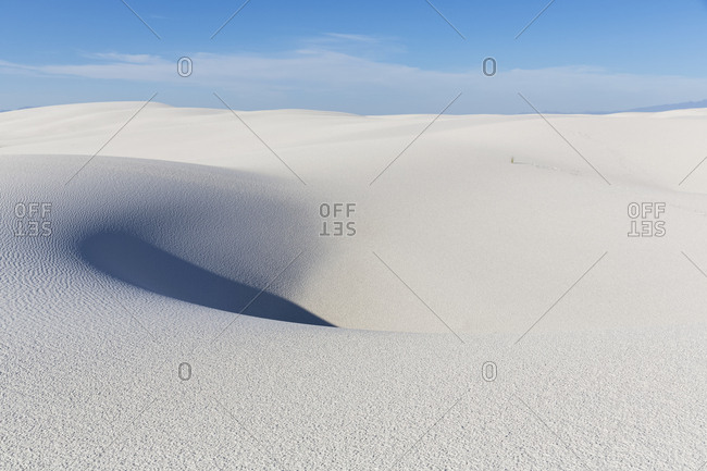 USA- New Mexico- Chihuahua Desert- White Sands National Monument- desert dune