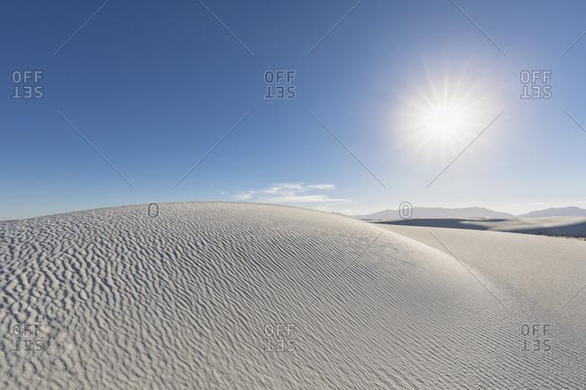 USA- New Mexico- Chihuahua Desert- White Sands National Monument- desert dune