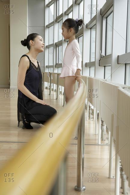 Ballet Teacher Talking To Student